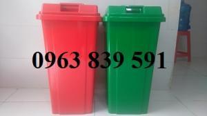 Cc thùng rác nhựa có bánh xe