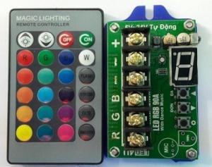 MẠCH ĐIỀU KHIỂN LED 7 MẦU 90A