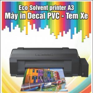 Epson a3 eco solvent in decal pvc