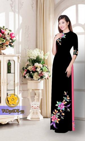 Vải áo dài hoa đẹp  TAD516