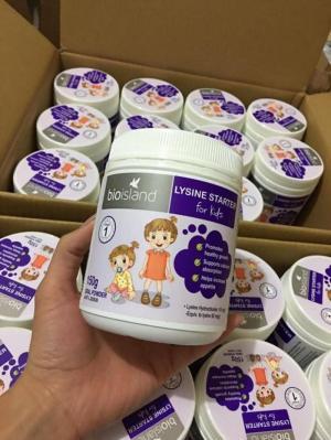 Bio island lysine hỗ trợ chiều cao cho trẻ từ 1-6 tuổi - bio island lysine starter