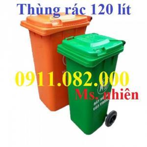 Thùng rác 120 lít, thùng rác nhập khẩu giá rẻ