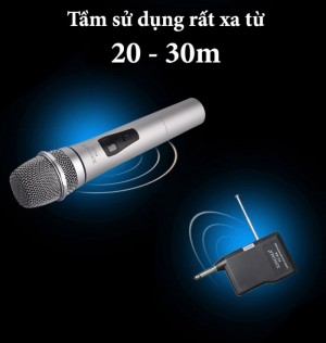 Micro Karaoke không dây Xingma PC-K3 Âm Chuẩn Hút Âm Cực Tốt Chống Ồn - MSN181207