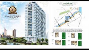 Cần bán căn Grand Riverside góc 55,1m2 tầng 7 giá rẻ nhất thị trường Quận 4, view sông
