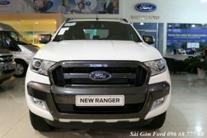 Khuyến Mãi Mua Ford Ranger Wildtrak 3.2L, Số Tự Động, Màu Trắng Ngọc Trinh. Hỗ Trợ Vay 100%, Xe Giao Ngay