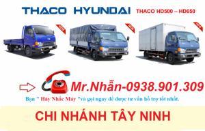 Xe tải thaco Hyundai hd500, hd650 5 tấn,6,5 tấn, mua XE HYUNDAI 5T,7T,8T trả góp Long An, Tây Ninh... ,tri ân khách hàng ưu đãi 100% lệ phí trước bạ.