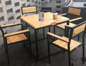 Ghế xếp inox quán cafe vỉa hè giá rẻ