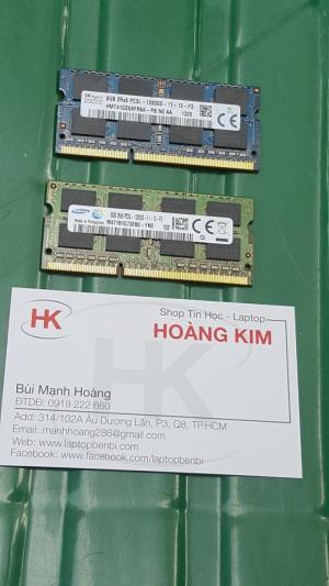 Ram 8GB DDR3L - Bus 1600MHz