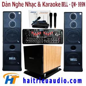 Dàn âm thanh karaoke gia đình BELL 999N Dàn âm thanh cao cấp sử dụng các công nghệ tốt nhất đến từ nhật bản với các thành phần linh kiện nhập khẩu cao cấp
