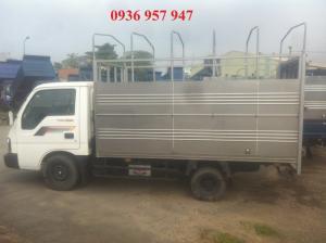 Bán xe tải Thaco Kia K190 thùng mui bạt, xe có sẵn, hỗ trợ trả góp