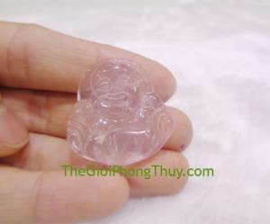 Phật di lạc thạch anh hồng nhỏ- FS6492