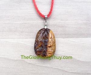 Phật bản mệnh đá mắt mèo nhỏ-Đại Thế Chí Bồ Tát (Ngọ) FS6484-5
