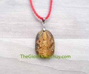 Phật bản mệnh đá mắt mèo nhỏ-Như Lai Đại Nhật (Mùi+Thân) FS6484-6