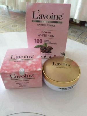 Tắm trắng Cafe và kem dưỡng body L'avoine