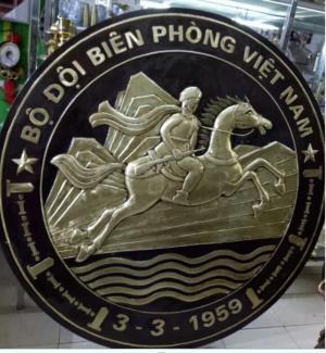 logo bộ đội biên phòng bằng đồng  1m6