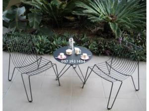 Bộ bàn ghế cafe sân vườn siêu bền đẹp và nhỏ...