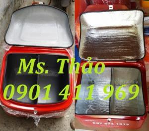 Thùng giao hàng đủ loại, thùng giao hàng tiếp thị, thùng chở hàng sau xe máy