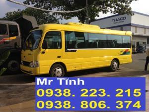 Giá xe khách 29 chỗ hyundai county nhập khẩu 3 cục thân dài