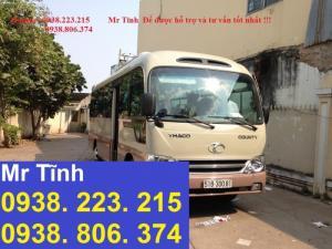 Mua xe khách 29 chỗ hyundai county thân dài 7m3, xe khách 29 chỗ thaco HB73s