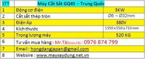 Thông số máy cắt sắt GQ45