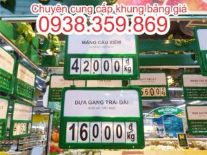 Khung bảng giá, khung bảng giá siêu thị, khung bảng giá số lật, kẹp bảng giá