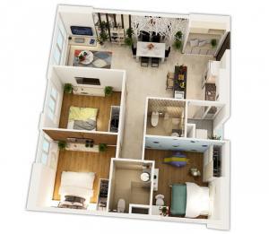 căn hộ 3 phòng ngủ của Saigon Gateway
