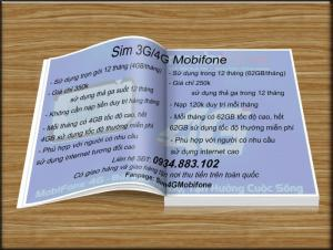 Sim Data 3G/4G Mobifone