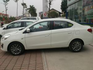 Mitsubishi ATTRAGE, số sàn nhập khẩu, 5L/100km, chạy Grab, Dịch vụ số 1.Cho vay 80%.