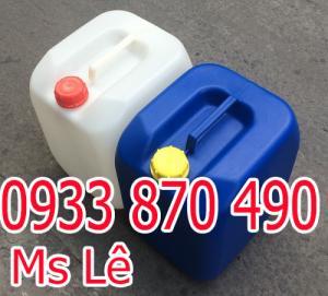 Can nhựa 30 lít vuông đựng hóa chất Màu: xanh, trắng