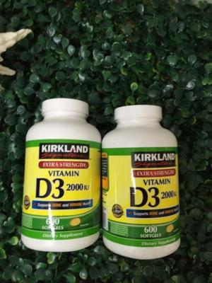 D3 2000 IU- Kirkland -USA , Vitamin D3 2000 IU 600 viên