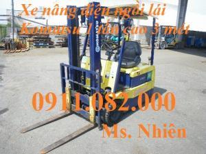 Xe nâng ngồi lái komatsu 1 tấn, 1,5 tấn, 2,5 tấn cao 3 mét giá rẻ