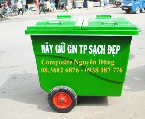 Thùng rác công cộng - 450L composite