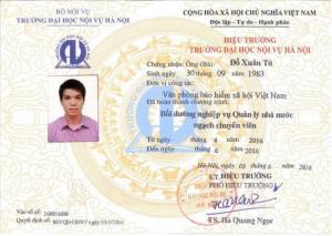 Đại học Nội vụ Hà Nội thông báo mở lớp bồi dưỡng ngạch chuyên viên