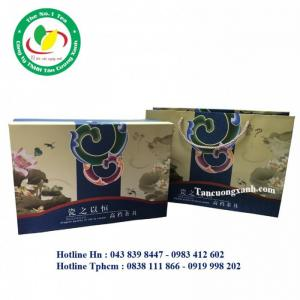 Ấm Chén Hoa và Cá TCX 14