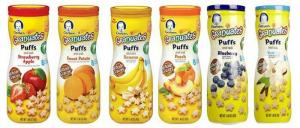 Bánh tan Gerber Graduates Fruit Puffs