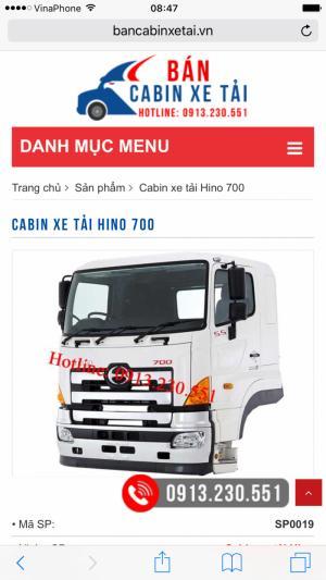Bán cabin xe tải - cabin xe tải