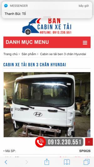 Mua bán đầu Cabin xe tải 3 chân Hyundai