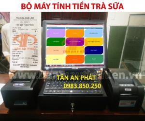 Máy tính tiền cảm ứng giá rẻ cho quán trà sữa giá rẻ tại Đà Nẵng
