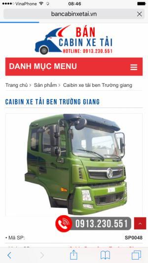 Bán cabin xe tải Trường giang