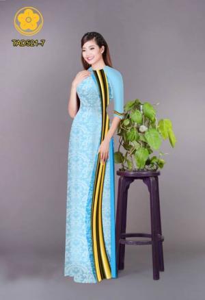 Vải áo dài hoa văn TAD521