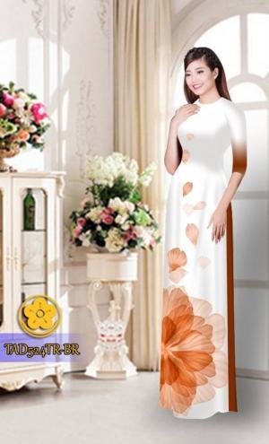 Vải áo dài hoa đẹp TAD524