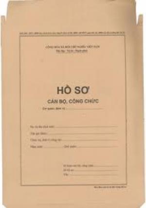 Bán hồ sơ công chức, vỏ hồ sơ công chức