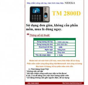 Máy chấm công đa chức năng Nideka TM2800 giá...