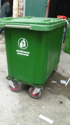 Thùng rác 120l, thùng rác nhựa HDPE, thùng rác công cộng giá rẻ