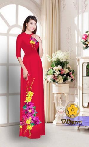 Vải áo dài hoa đẹp TAD527