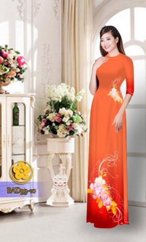 Vải áo dài hoa đẹp BAD99