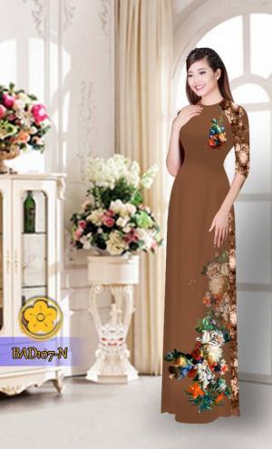 Vải áo dài hoa đẹp BAD107