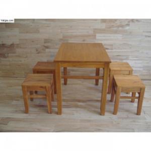 Bàn ghế gỗ cafe giá rẻ