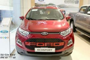 Khuyến Mãi Mua Xe Ford Ecosport Titanium 1.5L, Số Tự Động, Màu Đỏ, Hỗ Trợ Vay 85%, Giao xe ngay