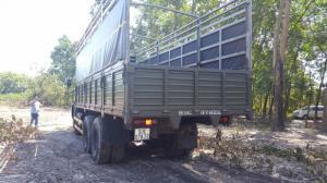 Xe tải thùng 53229 (6x4) trọng tải 24 tấn mau xanh quân đội